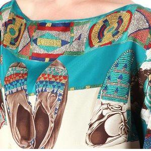 "Ralph Lauren Silk Native Tunic ""Blue Label"""